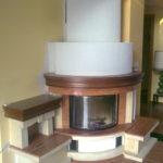 Przykładowa realizacja kominka rustykalnego